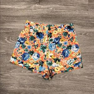 Topshop Bright Floral Shorts